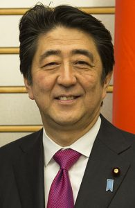 安部総理大臣の写真 G7
